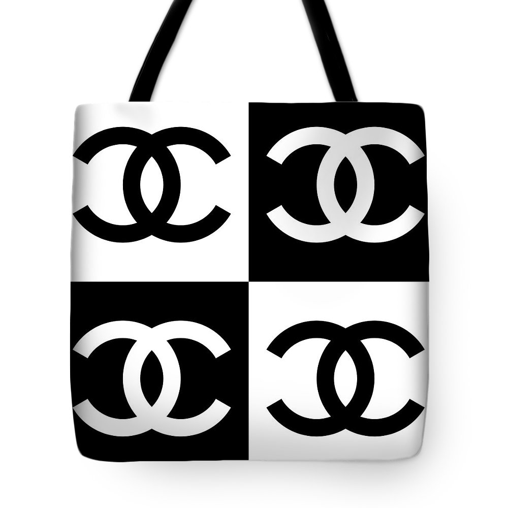 Chanel Tote Bag featuring the painting Chanel Design-5 by Three Dots