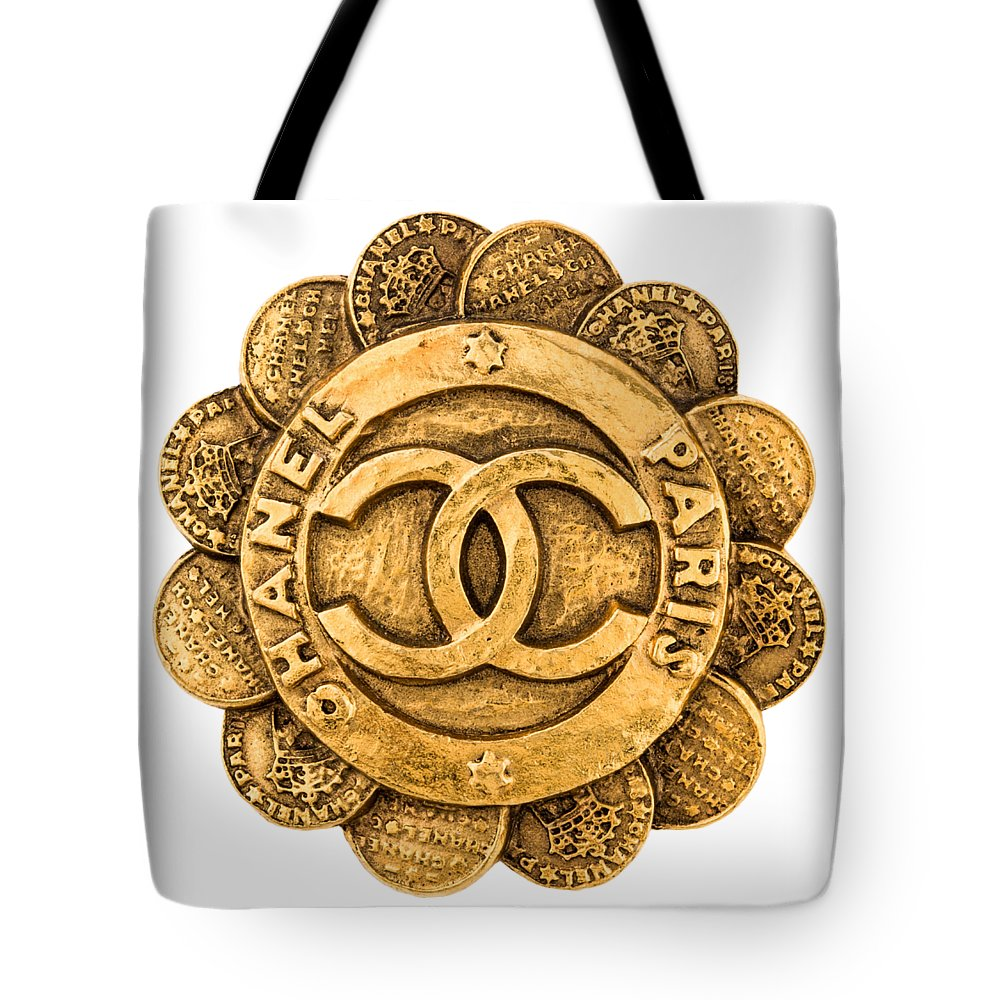 Chanel Tote Bag featuring the painting Chanel Jewelry-2 by Nikita