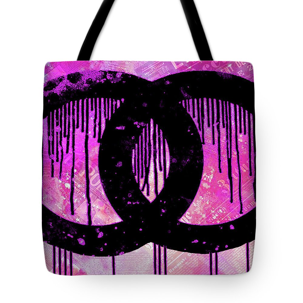 88935b677656 Chanel Dripping Tote Bag featuring the painting Chanel Logo Print Chanel  Logo Poster Chanel Painting Chanel