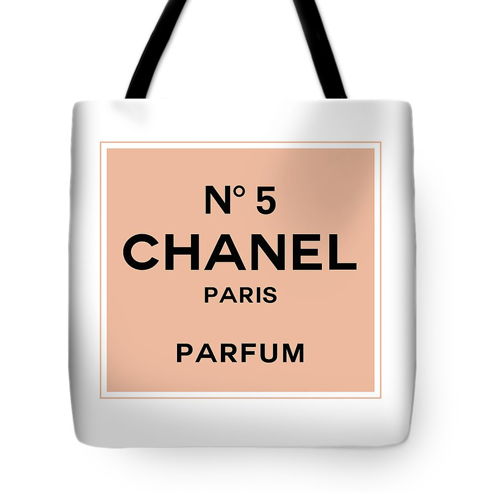 8ac970dc7677a7 Chanel Tote Bag featuring the digital art Chanel No 5 Parfum - Pink And  Black 01