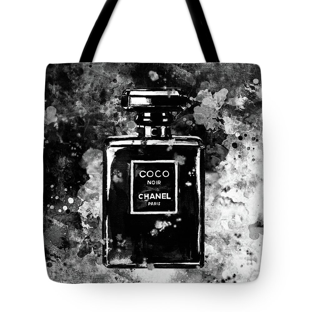 7b302fb560c0 Chanel Print Tote Bag featuring the painting Chanel Poster Chanel Print  Black And White Chanel Noir
