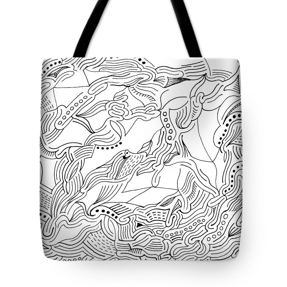 Mazes Tote Bag featuring the drawing Changes by Steven Natanson