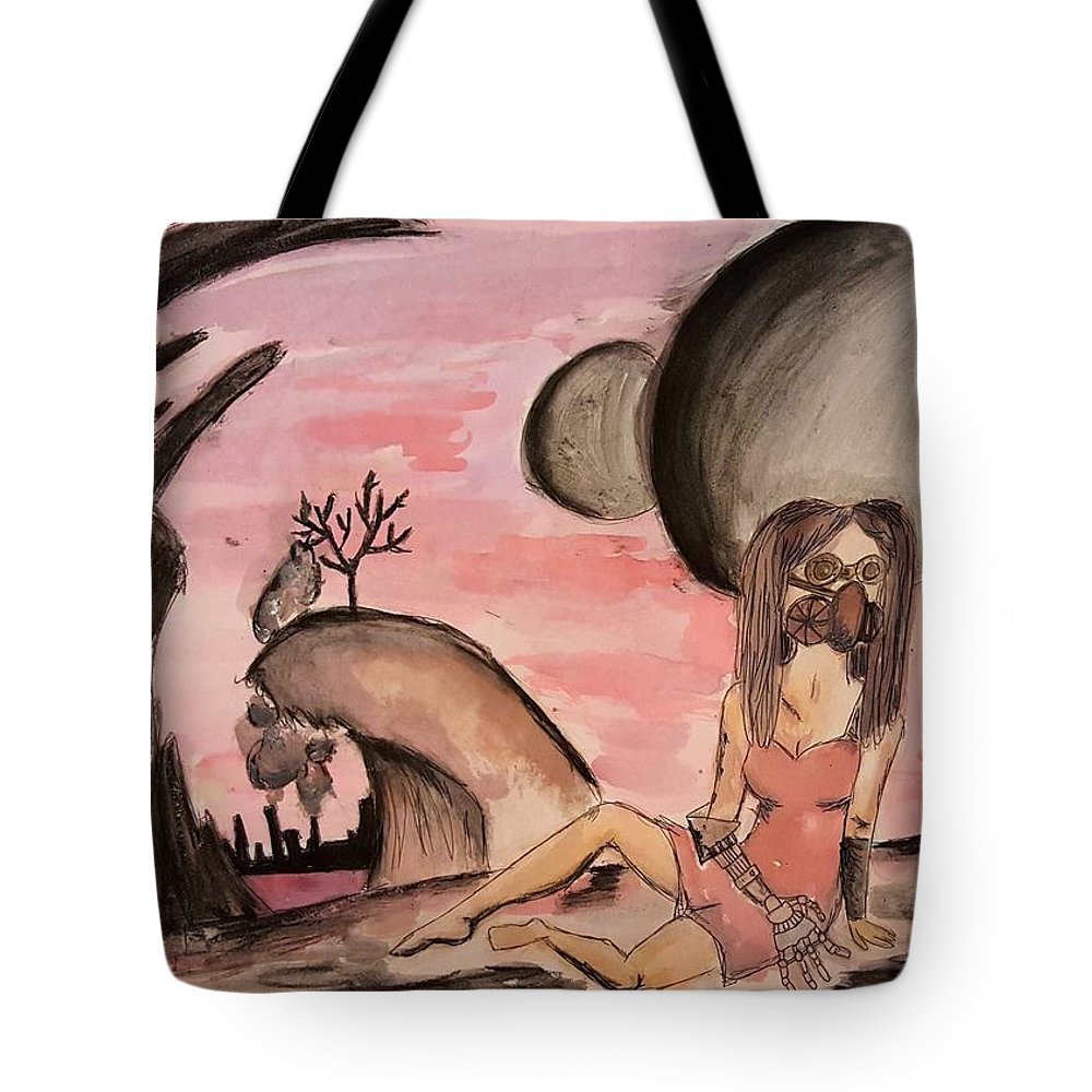Apocalypse Tote Bag featuring the painting Changing Moons by Shelby Thomas