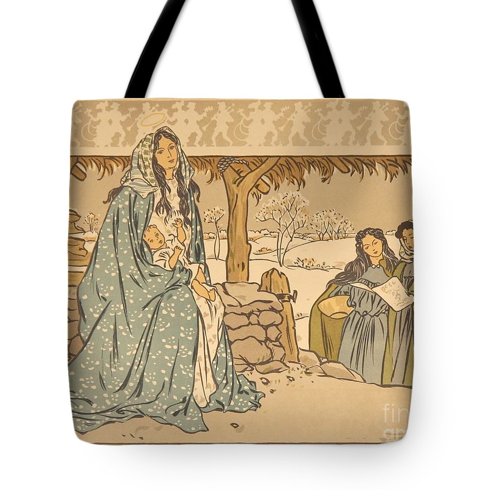 Georges Auriol Tote Bag featuring the painting Chant De Noel by Celestial Images