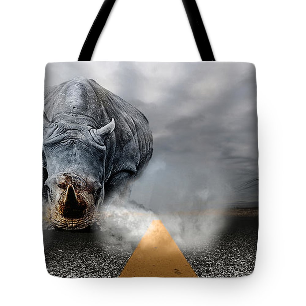 Chaos Artwork Photoshop Tote Bag featuring the digital art Chaos by Alex Grichenko