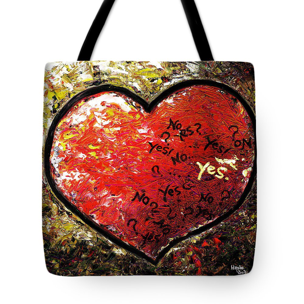 Pop Tote Bag featuring the painting Chaos In Heart by Hiroko Sakai
