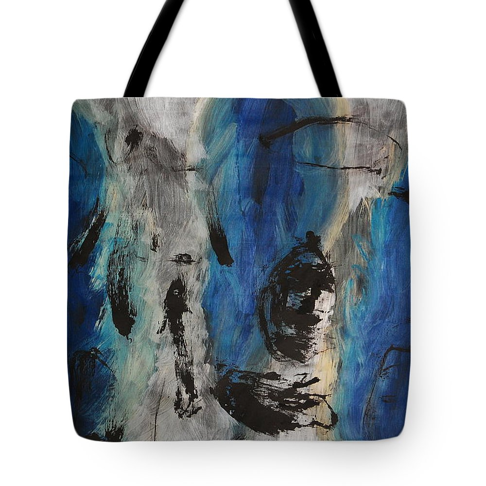 Abstract Tote Bag featuring the painting Chaos by Lauren Luna