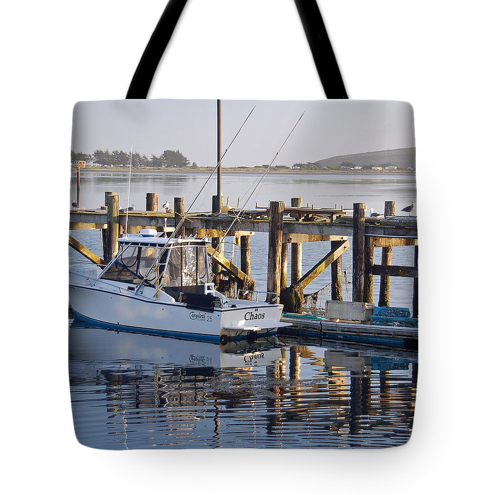 Boat Tote Bag featuring the photograph Chaos near Bodega Bay by Suzanne Gaff
