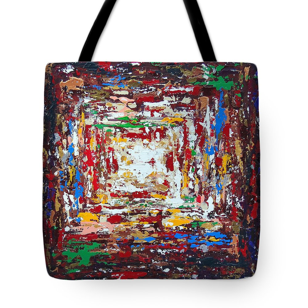 Original Tote Bag featuring the painting Chaotic Bliss by Daniela Pasqualini