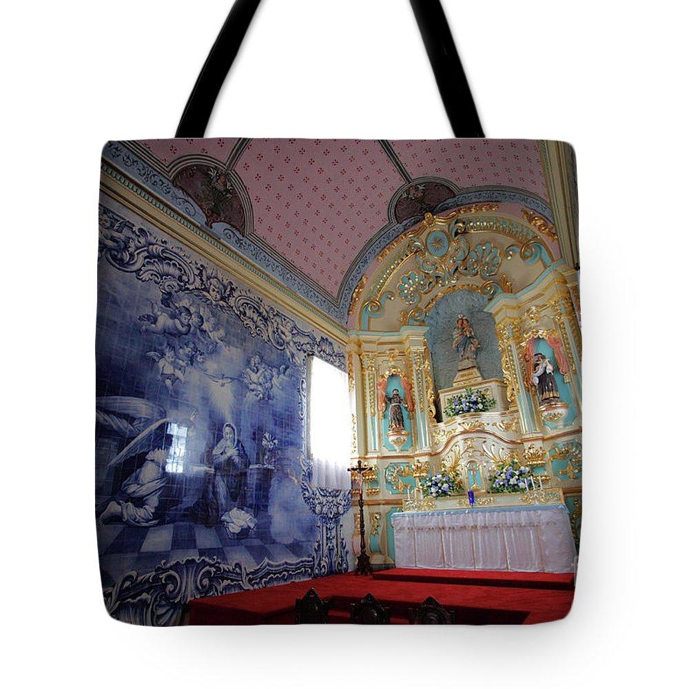 Fenais Da Ajuda Tote Bag featuring the photograph Chapel In Azores Islands by Gaspar Avila