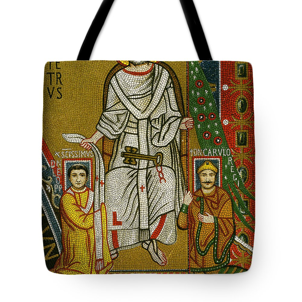 8th Century Tote Bag featuring the painting Charlemagne (742-814) by Granger