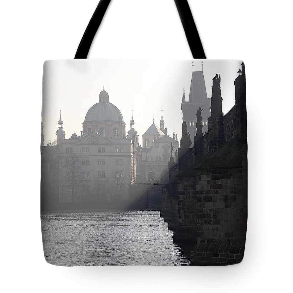 Bridge Tote Bag featuring the photograph Charles Bridge At Early Morning by Michal Boubin