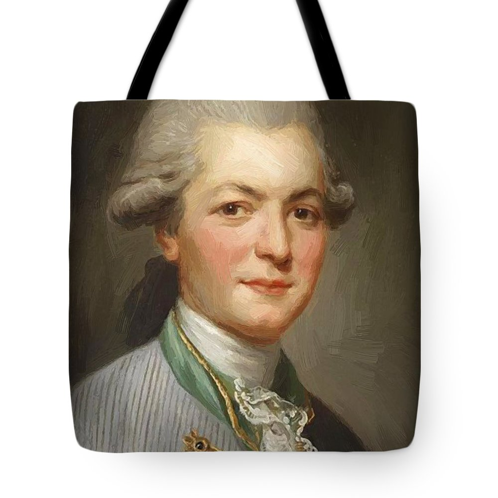 Charles Tote Bag featuring the painting Charles Joseph De Pallu by Ducreux Joseph