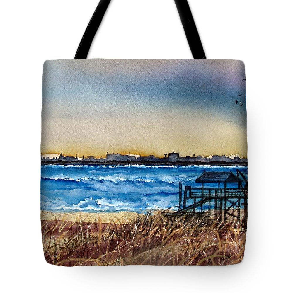 Charlieston Tote Bag featuring the painting Charleston At Sunset by Lil Taylor