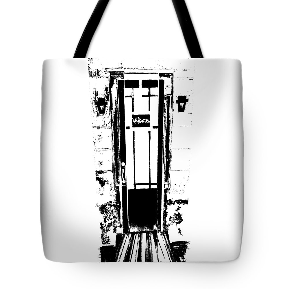 Digital Art Tote Bag featuring the painting Charleston Door by Ashley Galloway