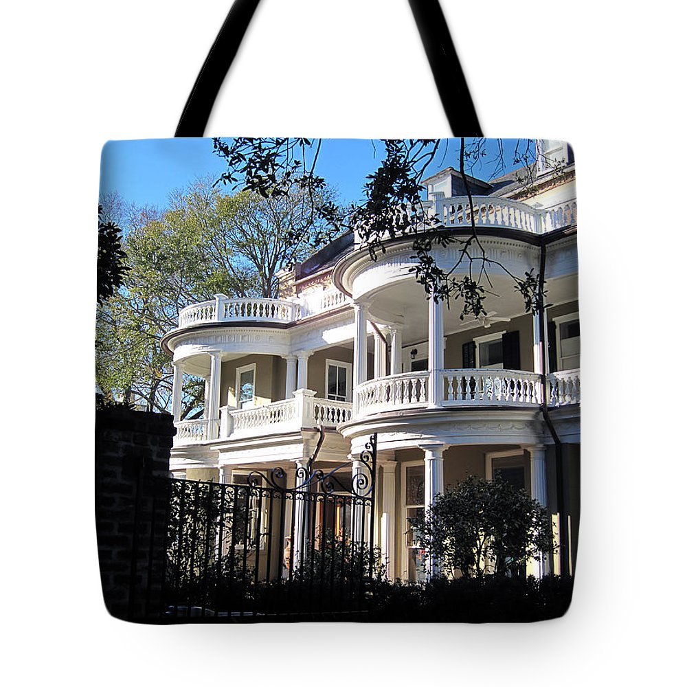 Photography Tote Bag featuring the photograph Charlestons Beautiful Architecure by Susanne Van Hulst