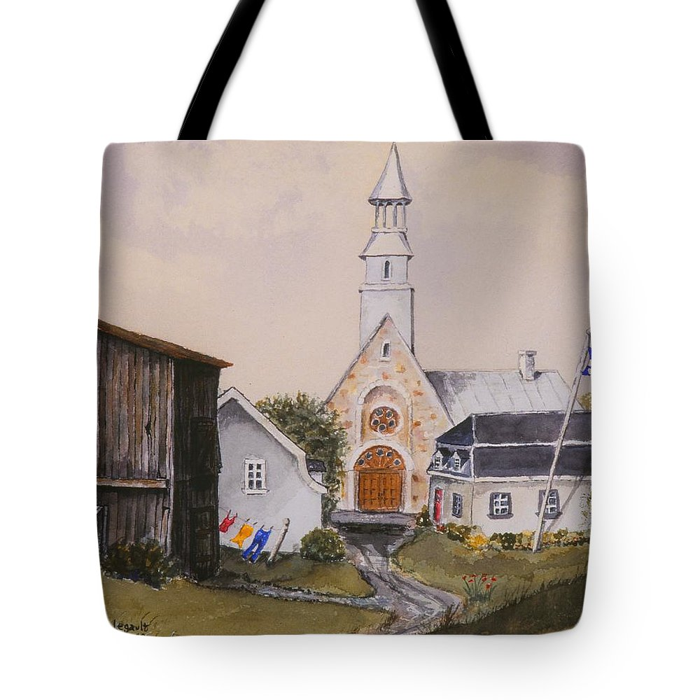 Landscape Tote Bag featuring the painting Charlevoix Quebec by Mary Ellen Mueller Legault