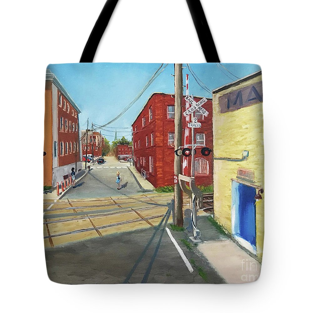 Charlottesville Tote Bag featuring the painting Charlottesville Street by Tatiana Gracheva