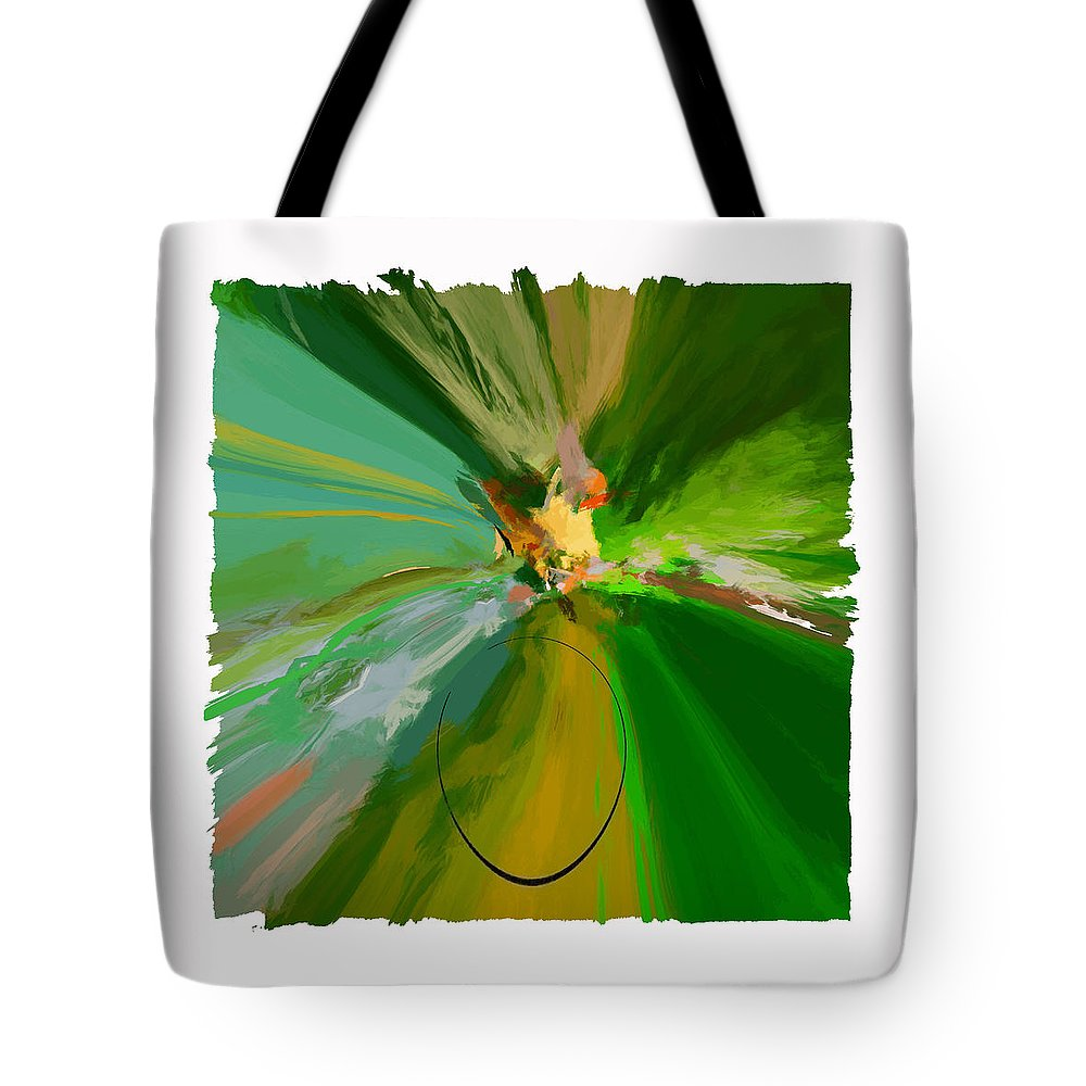 Abstract Tote Bag featuring the digital art Charmed Viii Pf by Ronald Bolokofsky