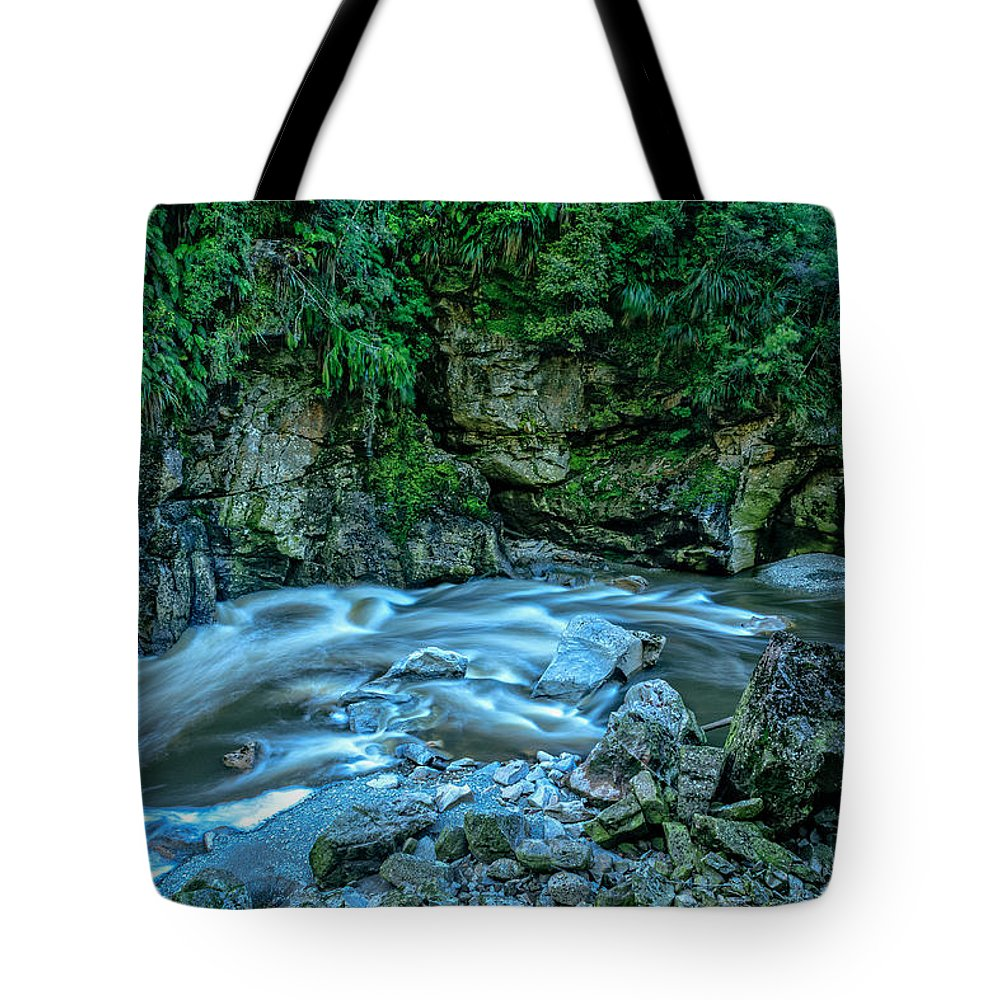 New Zealand Tote Bag featuring the photograph Charming Creek Walkway 1 by Robert Green
