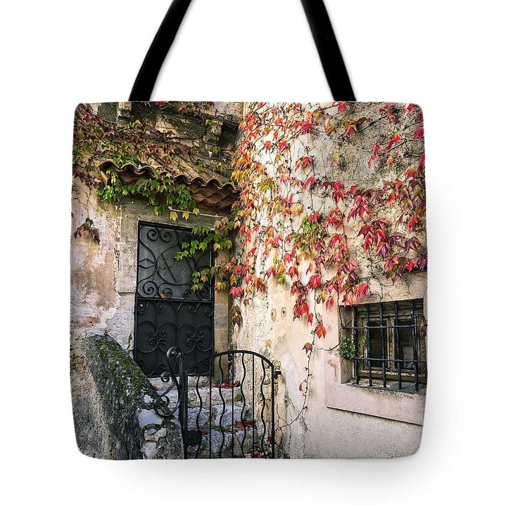 Cote D'azur Tote Bag featuring the photograph Charming Eza France by John Greim