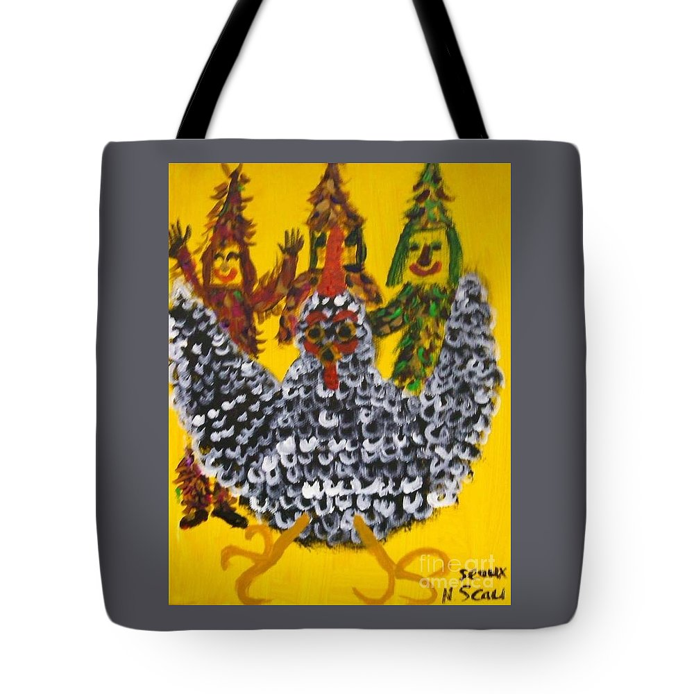 Chasing Tote Bag featuring the painting Chasing The Zanga by Seaux-N-Seau Soileau