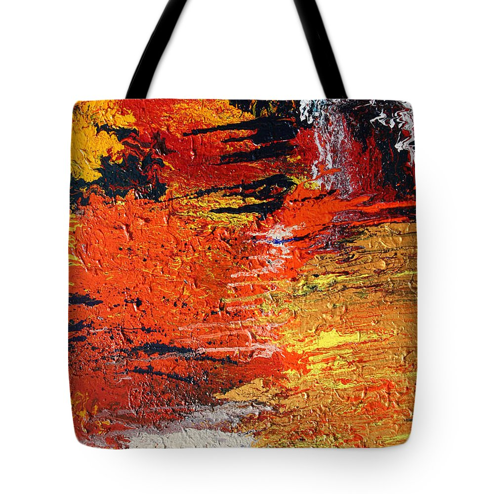 Fusionart Tote Bag featuring the painting Chasm by Ralph White