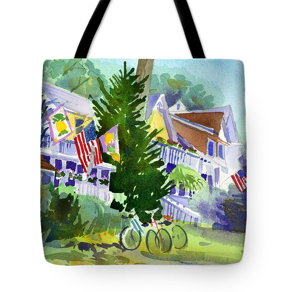 Chautauqua Institution Tote Bag featuring the painting Chautauqua House by Lee Klingenberg