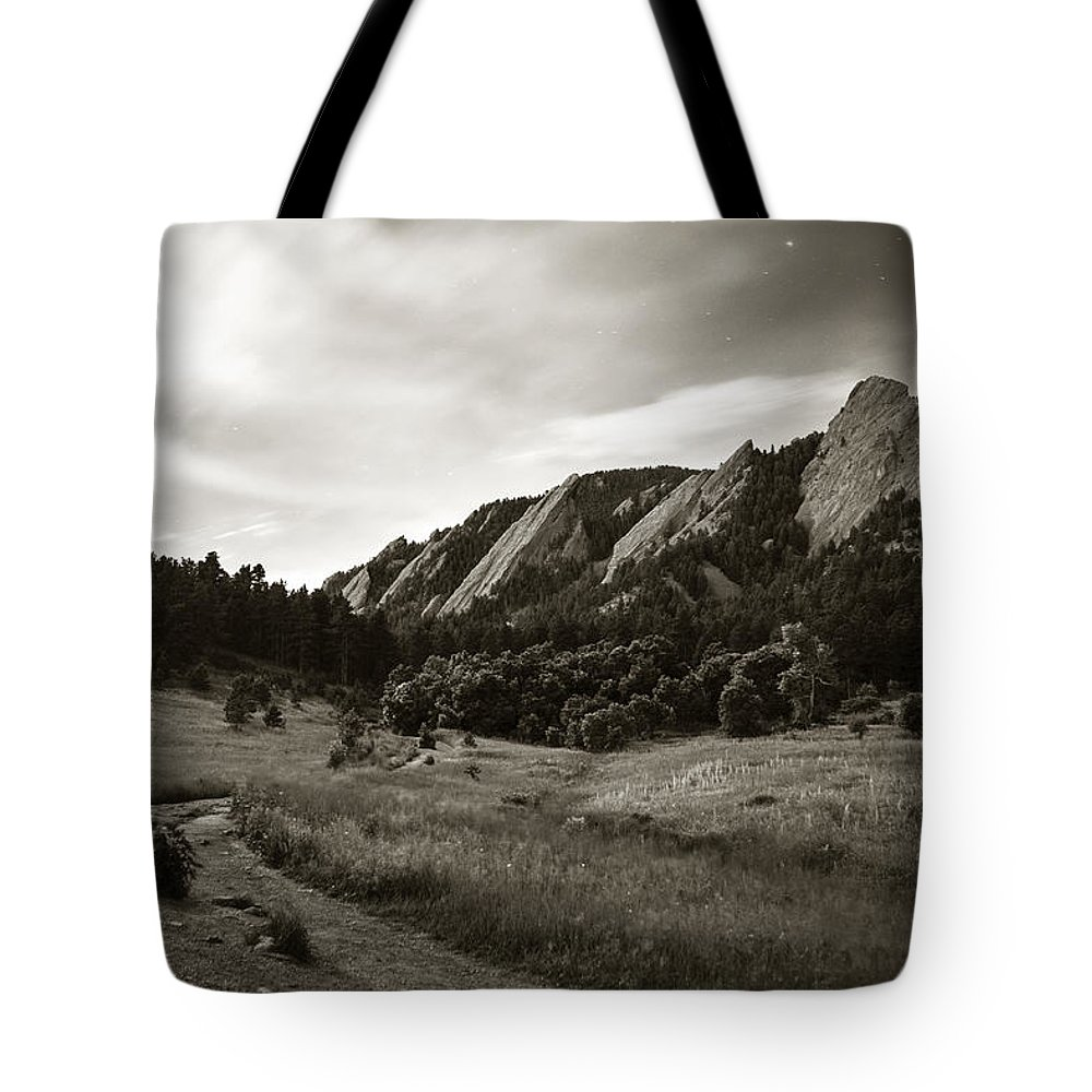 Camp Tote Bag featuring the photograph Chautauqua Night Path 2 by Marilyn Hunt