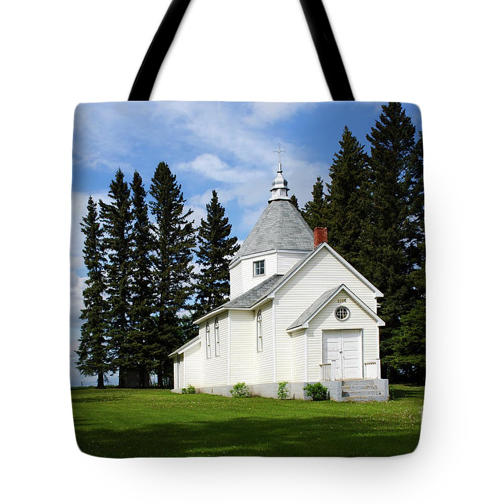 Religion Tote Bag featuring the photograph Chechow Holy Spirit Church 2 by Bob Christopher