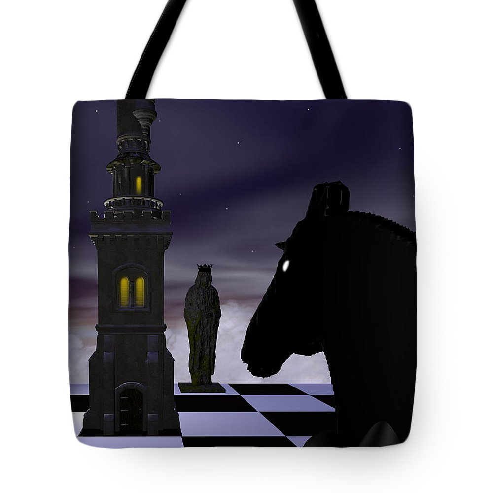 Abstract Tote Bag featuring the digital art Checkmate by David Griffith