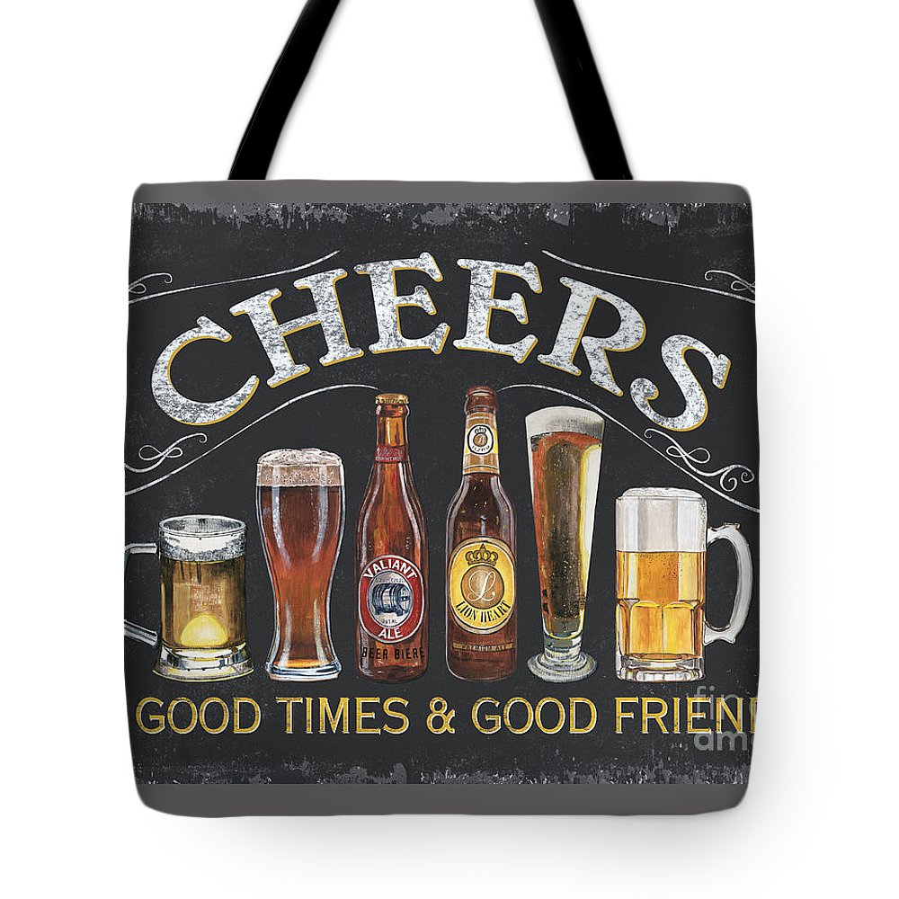 Cheers Tote Bag featuring the painting Cheers by Debbie DeWitt