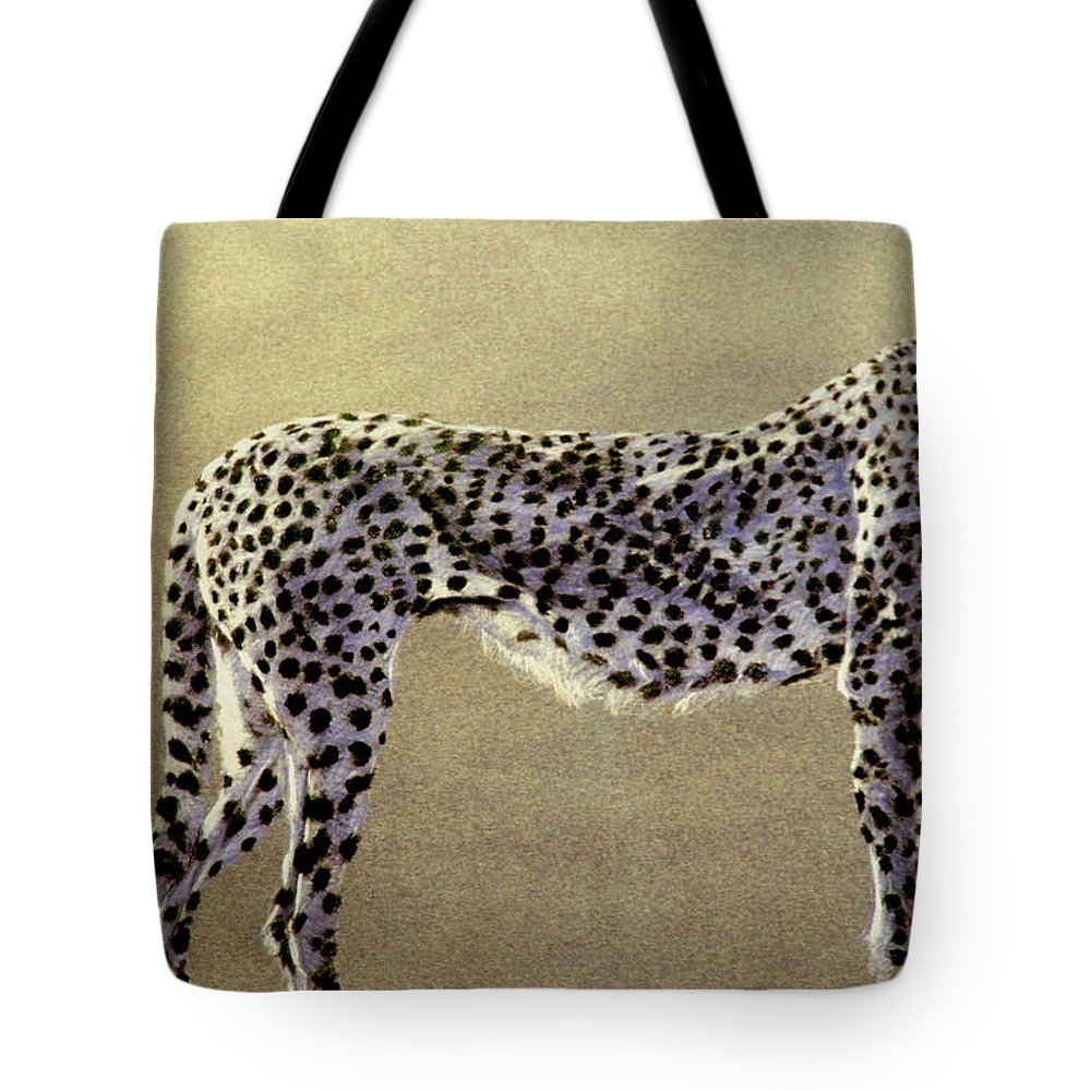 Wildlife Tote Bag featuring the drawing Cheetah by Paul Miller