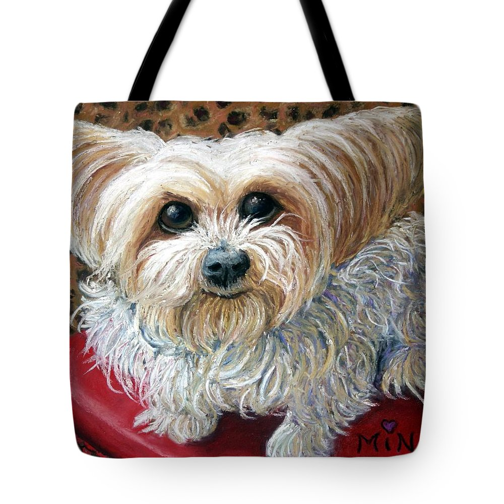Dog Tote Bag featuring the painting My Friend by Minaz Jantz