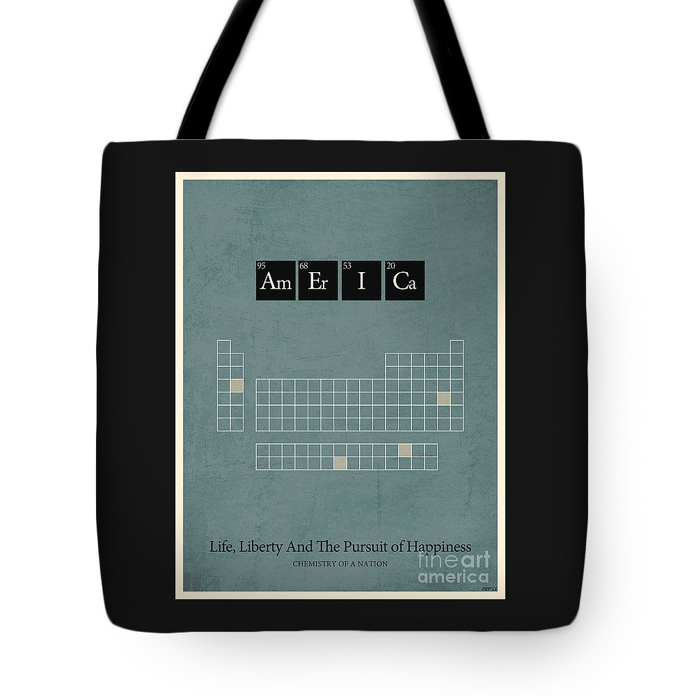 Graphic Design Tote Bag featuring the digital art Chemistry Of A Nation by Phil Perkins