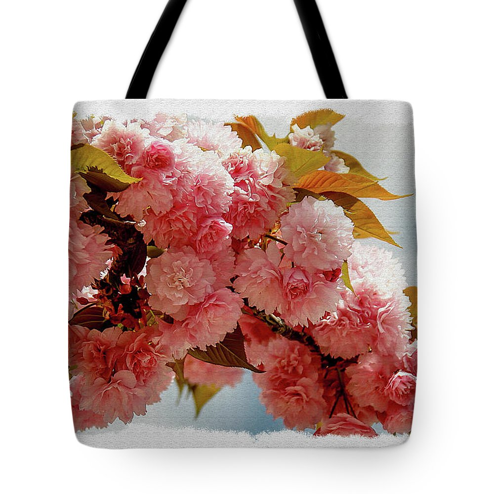 Blossom Tote Bag featuring the photograph Cherry Blossom by Phil Pace