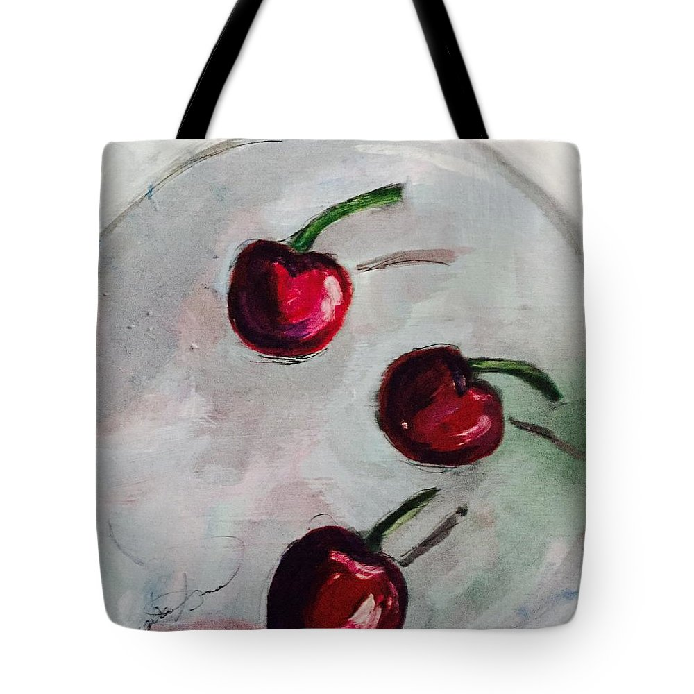 Fruit Tote Bag featuring the painting Cherry Cherry by Andrea Torraca
