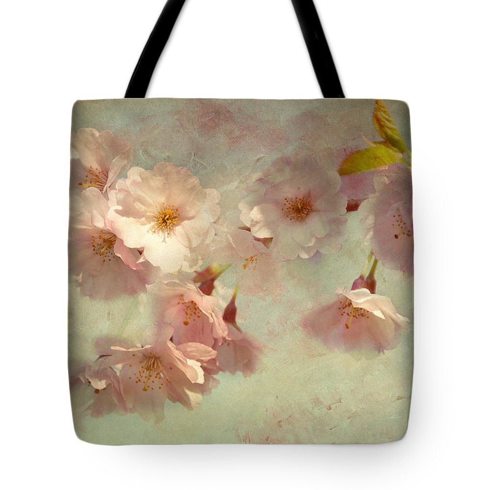 Cherry Blossom Tote Bag featuring the photograph Cherry Love by Claudia Moeckel