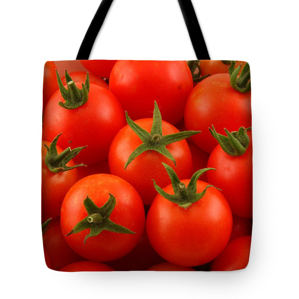 Cherry Tomatoes Tote Bag featuring the photograph Cherry Tomatoes Fine Art Food Photography by James BO Insogna