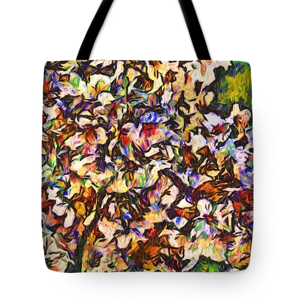 Cherry Blossoms Tote Bag featuring the photograph Cherryvangogh by Alice Gipson