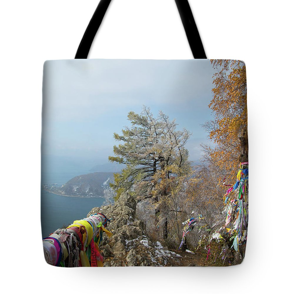 Chersky Stone Tote Bag featuring the photograph Chersky Stone View by Teresa Otto