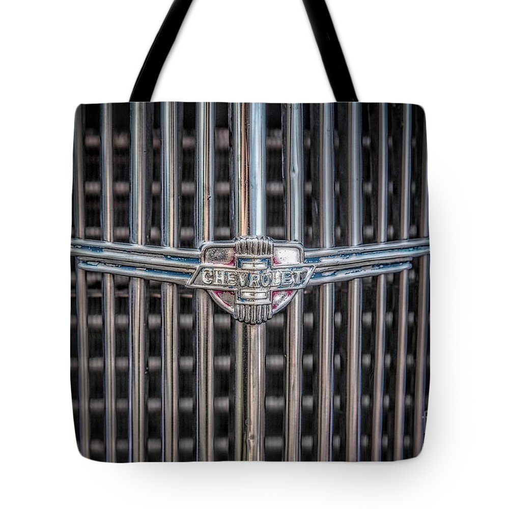Grill Tote Bag featuring the photograph Chevrolet Grill by Lynn Sprowl