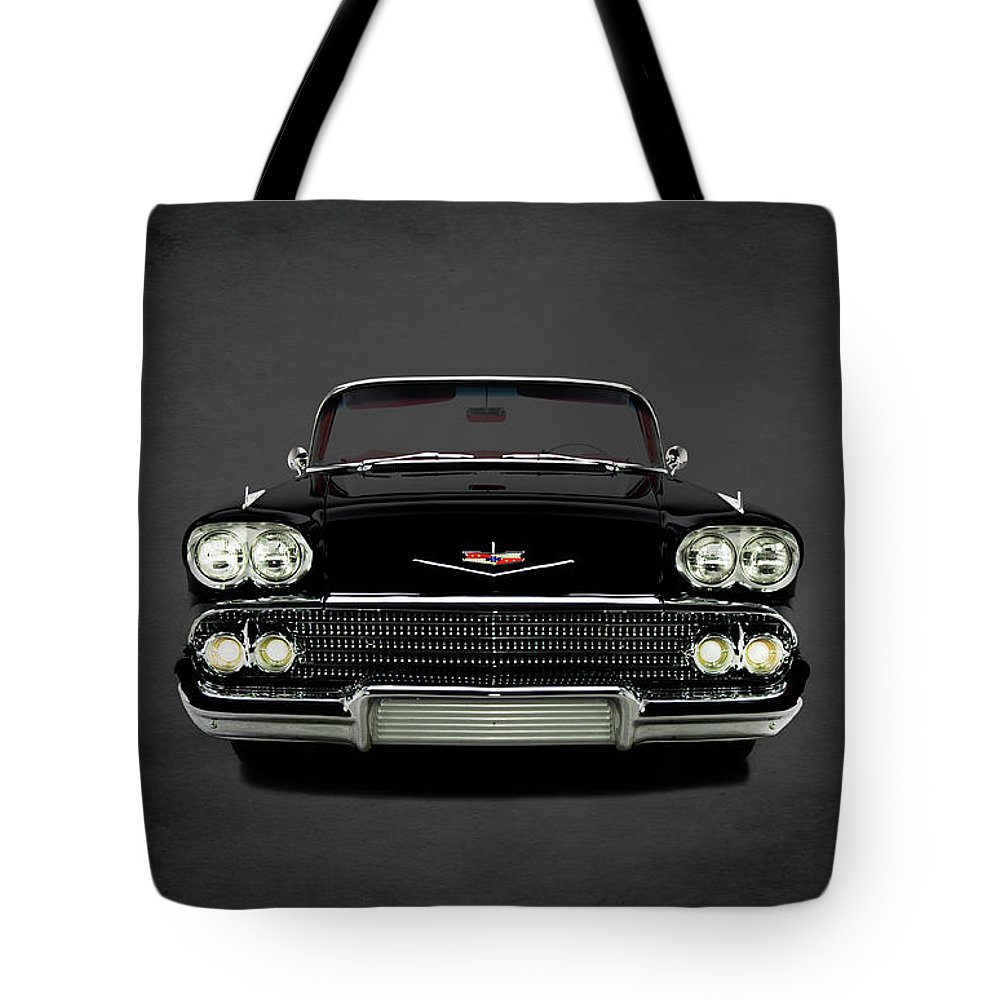 Chevrolet Impala Tote Bag featuring the photograph Chevrolet Impala by Mark Rogan