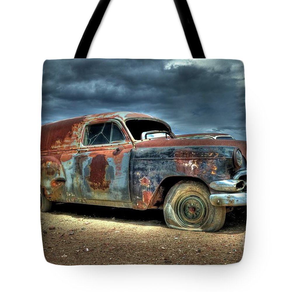 Chevrolet Tote Bag featuring the photograph Chevrolet Sedan Delivery by Tony Baca