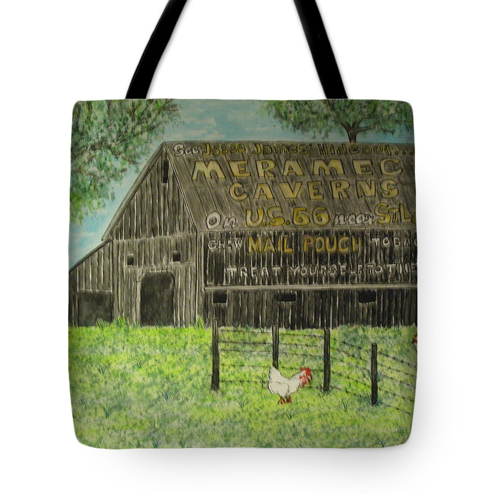 Chew Mail Pouch Tote Bag featuring the painting Chew Mail Pouch Barn by Kathy Marrs Chandler