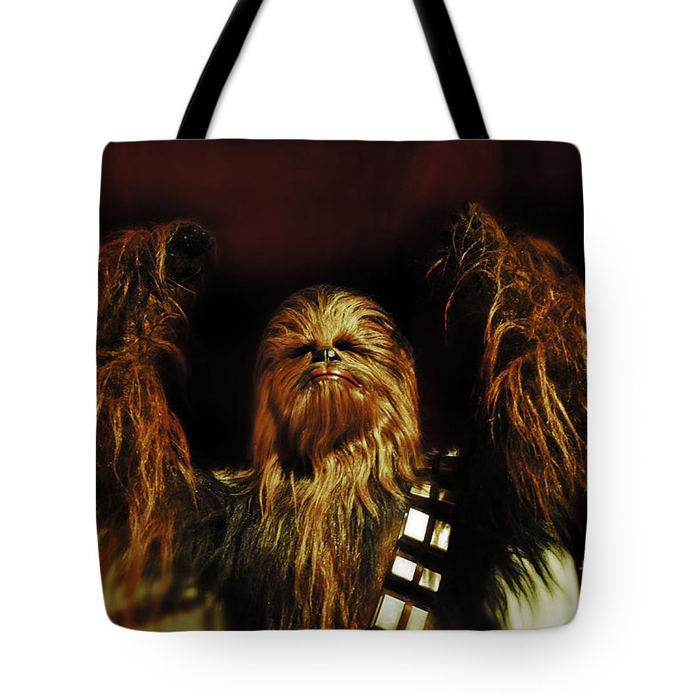 Chewie Tote Bag featuring the photograph Chewie by Frank Larkin