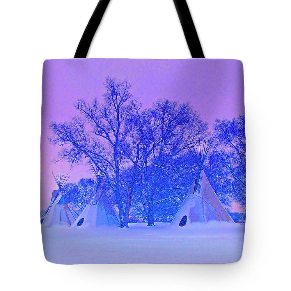 Cheyenne Tote Bag featuring the photograph Cheyenne Dawn by Dominic Piperata