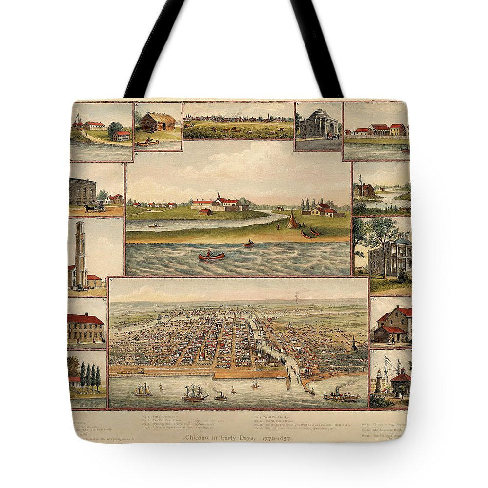 Chicago Tote Bag featuring the photograph Chicago 1779-1857 by Andrew Fare