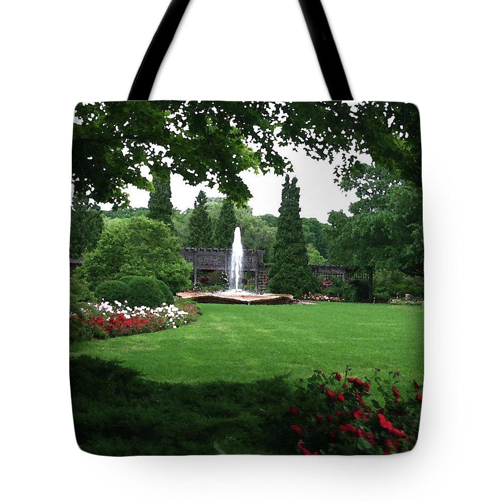 Landscape Tote Bag featuring the photograph Chicago Botanical Gardens Landscape by Steve Karol