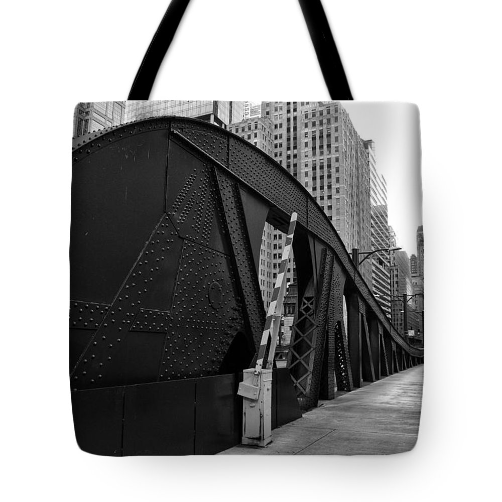 Chicago Tote Bag featuring the photograph Chicago Bridge by Joseph Caban